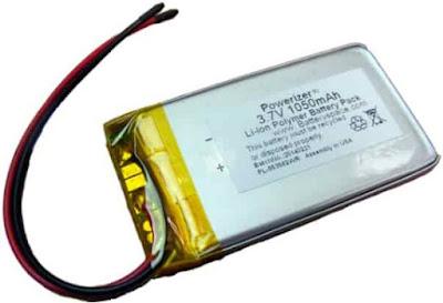 baterai li polymer