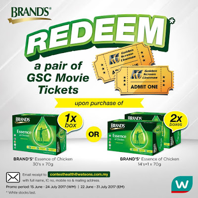 Watsons Malaysia Brands Chicken Essence Free GSC Movie Ticket