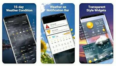 Aplikasi Ramalan Cuaca - Amber Weather