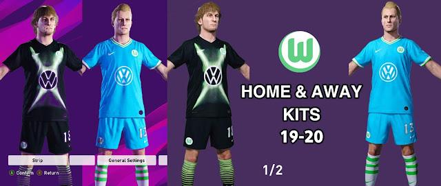 PES 2020 VfL Wolfsburg 19-20 Kits by nanilincol44