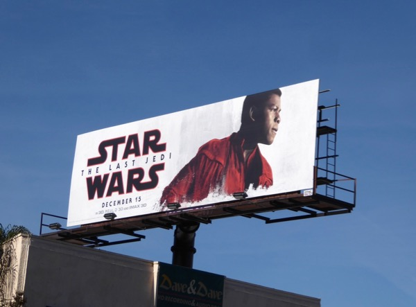 Star Wars Last Jedi Finn billboard