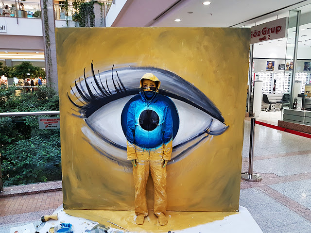 Invisible - Flesh and Acrylic - BenHeineArt - Eye - Ankamall