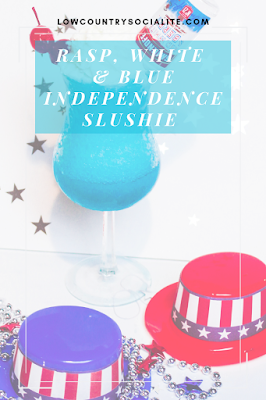 Rasp, White & Blue Independence Slushie, cocktails, The Low Country Socialite, Plus Size Blogger, Savannah Georgia, Hinesville Georgia, Kirsten Jackson