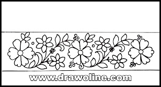 How to draw an easy process to hand embroidery saree border design/ hand embroidery designs images free download.