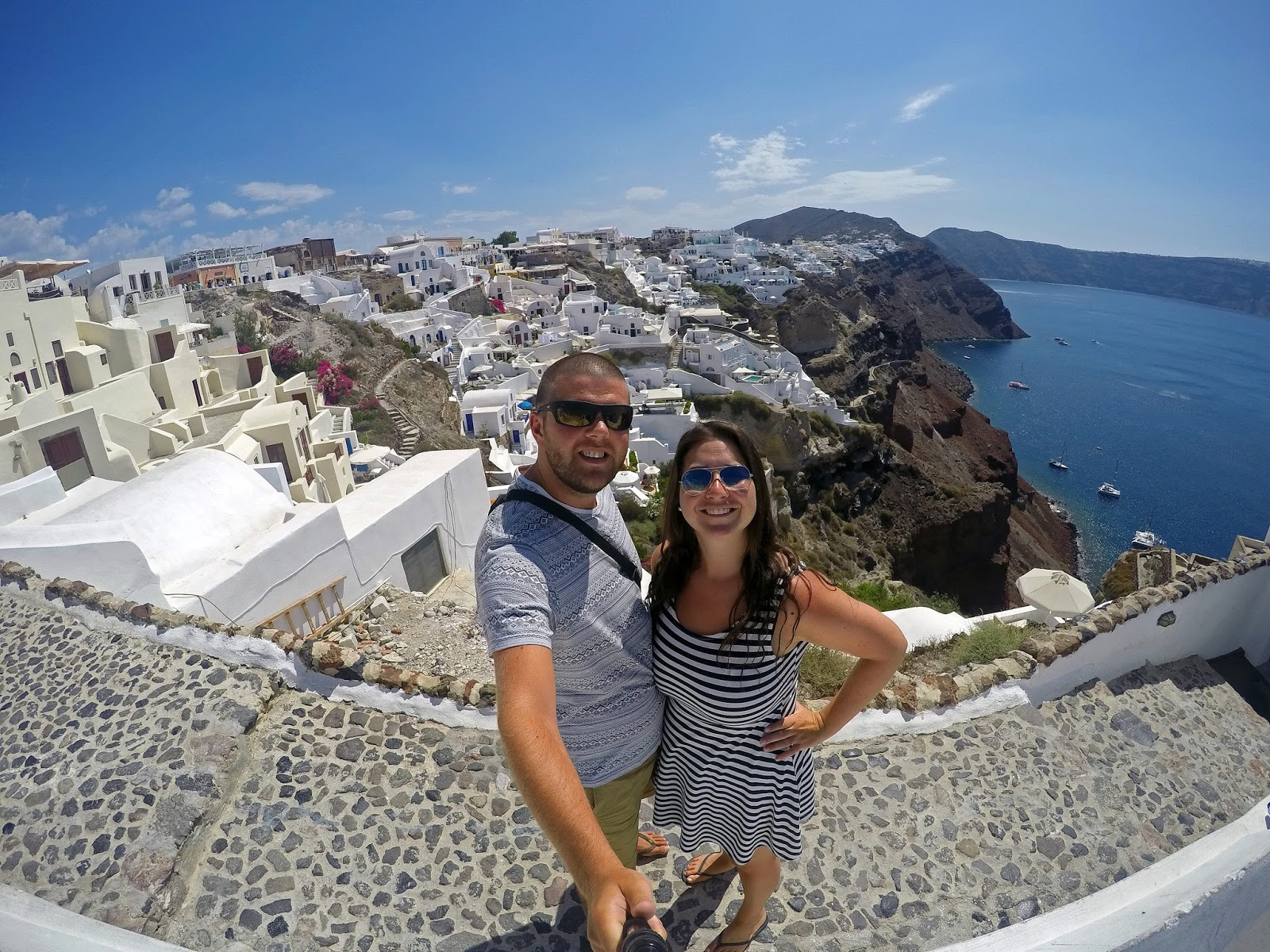 Couple in Oia Santorini
