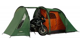 Namiot z garażem dla dwóch kółek - VANGO Stelvio 200 - rozkładamy i składamy !
