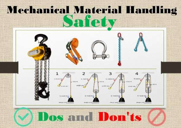 Mechanical Material Handling Safety Dos and Don'ts