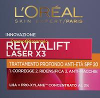 Logo Diventa tester Revitalift Laser X3 trattamento profondo anti età SPF 20