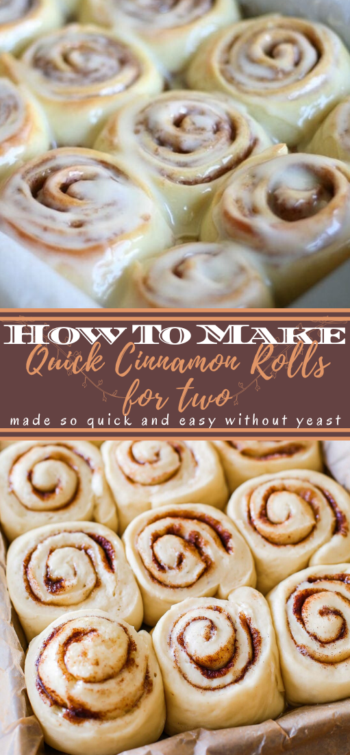 Quick Cinnamon Rolls for two #desserts #cakerecipe #chocolate #fingerfood #easy
