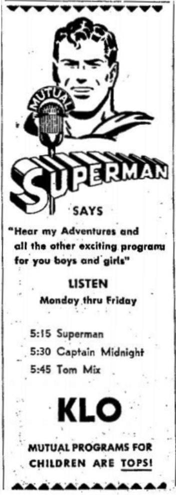 OTR Advertisements: Adventures of Superman (The) (Kellogg