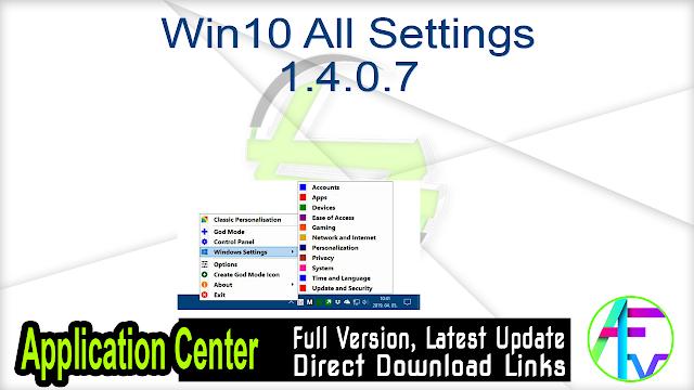 Win10 All Settings 1.4.0.7