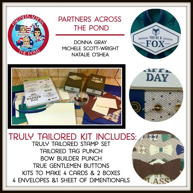 On-Line Video Class, Partners Across the Pond, Tailored Tag Punch, Truly Tailored Stamp Set