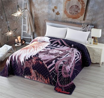 Soft Microfibe Quilted Bedspread King Size  50% off