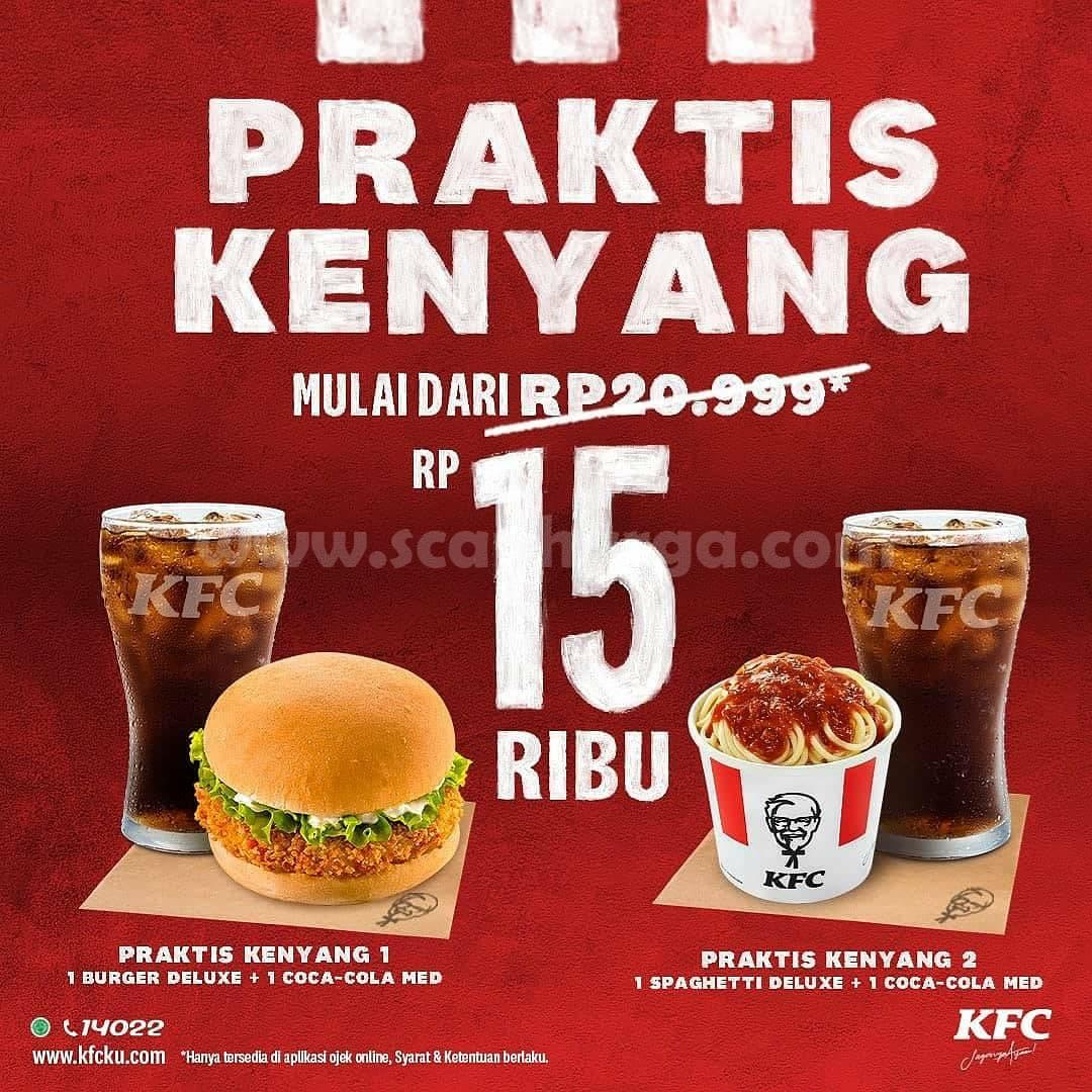KFC Promo Paket Kenyang Mulai dari Rp 15 Ribu