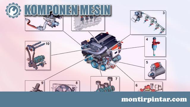 komponen mesin mobil dan fungsinya