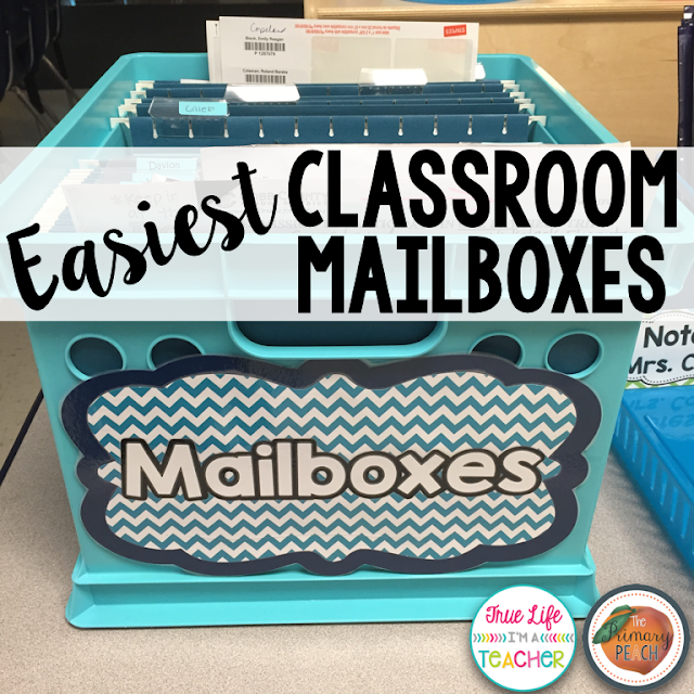 Easy and inexpensive student mailboxes to stay organized.