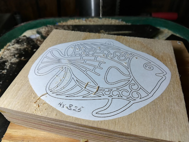 Stack Cutting A Tropical Fish Filigree Ornament On A Scroll Saw