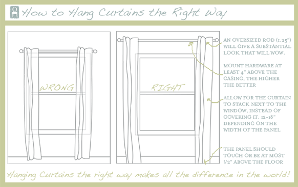 crafty texas girls the thing about hanging curtains. Black Bedroom Furniture Sets. Home Design Ideas