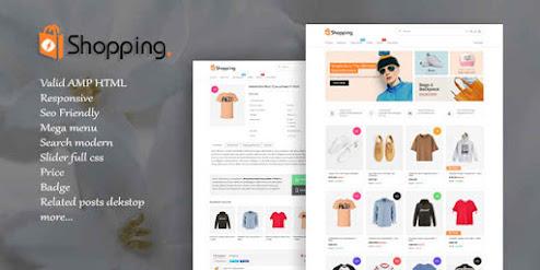 [Update] Shopping AMP HTML V1.2 Responsive Blogger Template