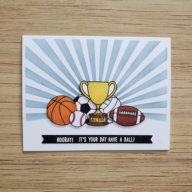 Sunny Studio Stamps: Team Player Customer Card by Daria Zender