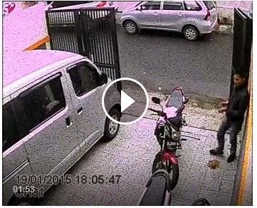 pencurian motor di tomang