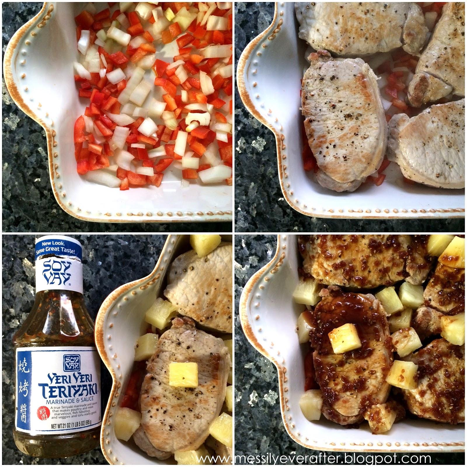 Baked teriyaki pork chop recipe