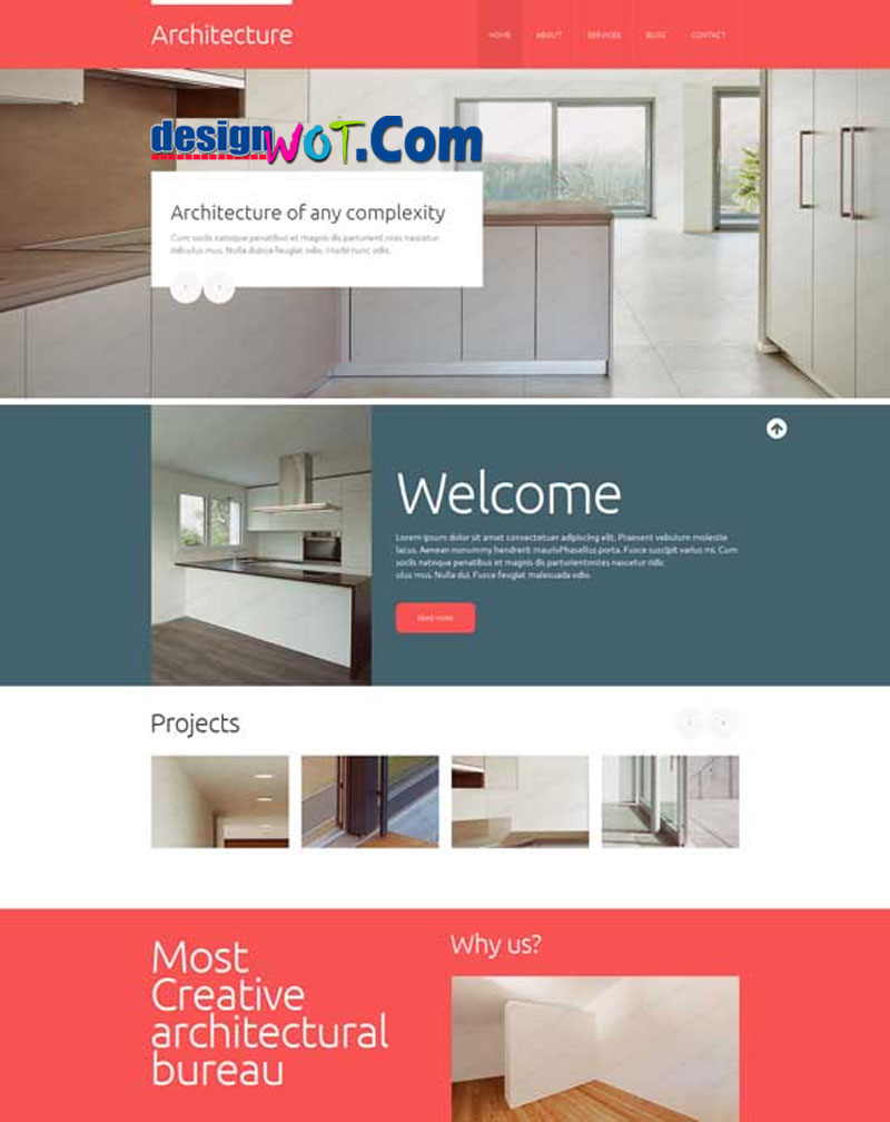 ARCHITECTURE Responsive HTML WordPress Template