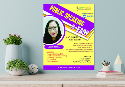 Online Training : Public Speaking is Easy Santy Sastra