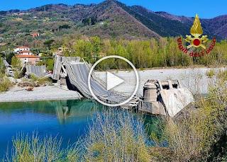 Рухна 260-метров мост в Северна Италия, има пострадали (ВИДЕО)