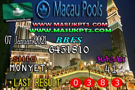 Prediksi Wangsit Toto Macau Kamis 07 Januari 2021