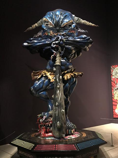 Photo of Takashi Murakami's sculpture 'Embodiment of Um', 2014