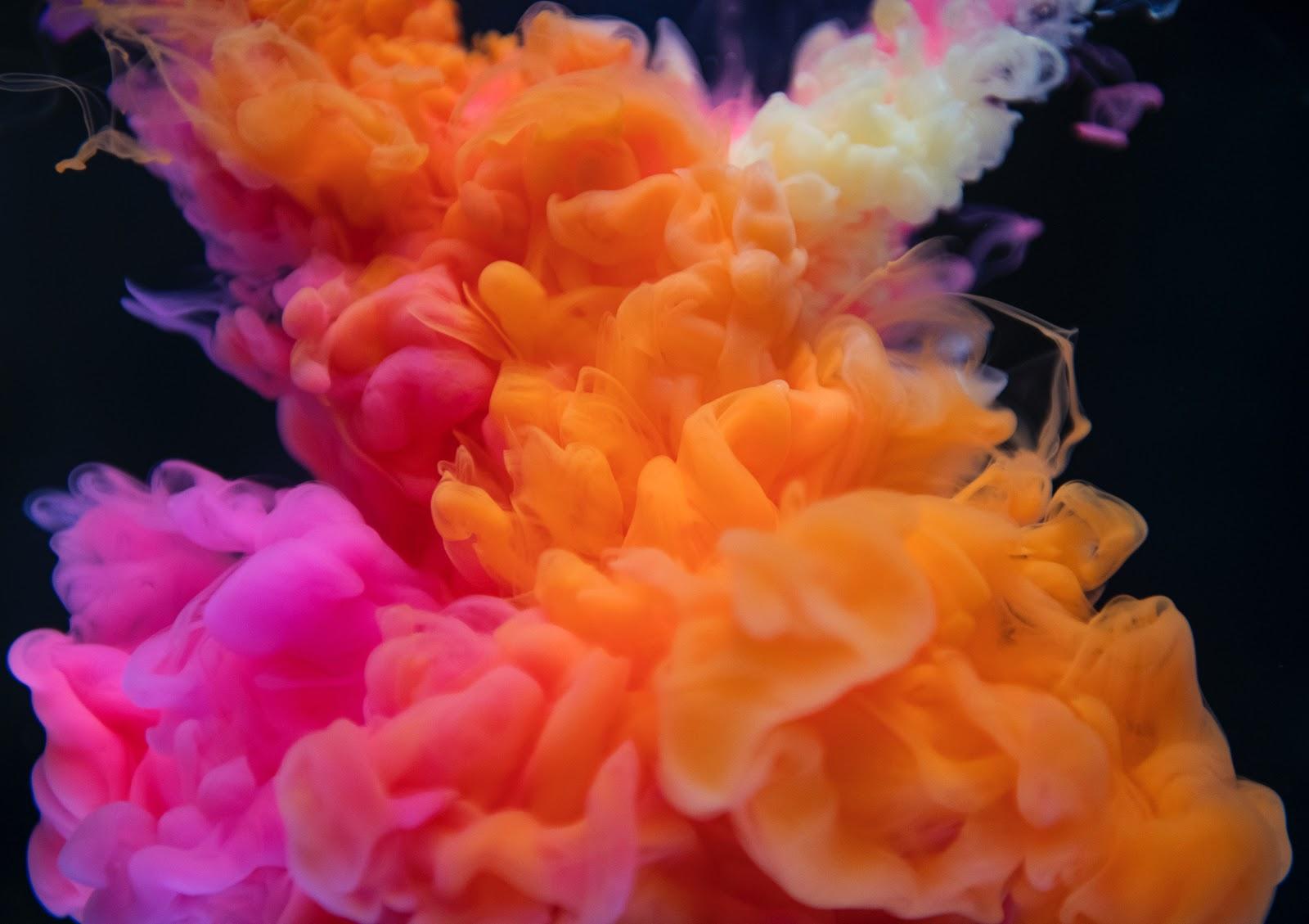 Orange, White, and Pink Smoke Digital