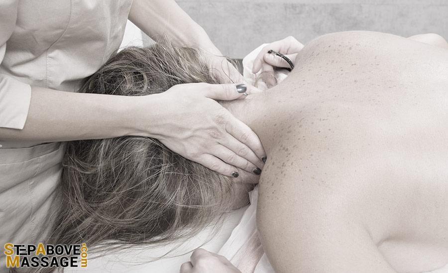 Deep tissue massage for neck pain