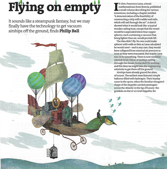 Flying on (vacuum) empty (Source: Philip Ball, New Scientist, 21 Dec 2019)