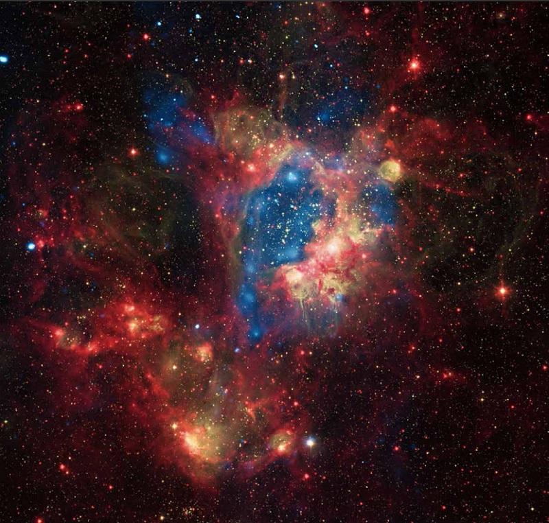 El cúmulo NGC 1929 es una nebulosa de emisión en la constelación Goldfish