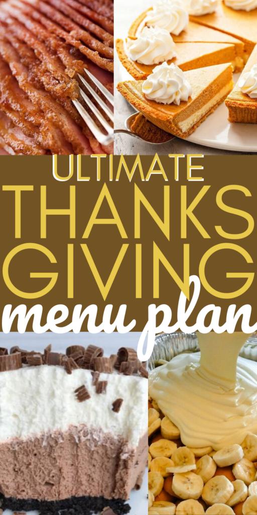 Thanksgiving Menu Meal Plan Recipes