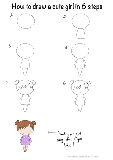 How to draw a cute girl