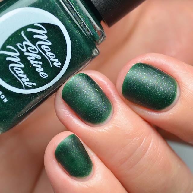 matte green nail polish swatch