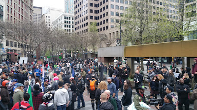 "Many turned out for the Seattle ""May Day"" event on 5/1/2017"