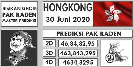 Prediksi Togel Pak Raden Hongkong HK Selasa 30 Juni 2020