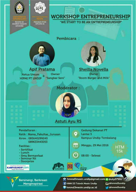Workshop Entrepreneurship HMM PSD3 FT Undip