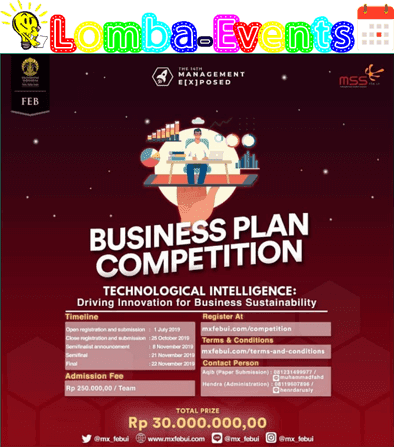 Lomba Business Plan Management Exposed UI 2019 Mahasiswa