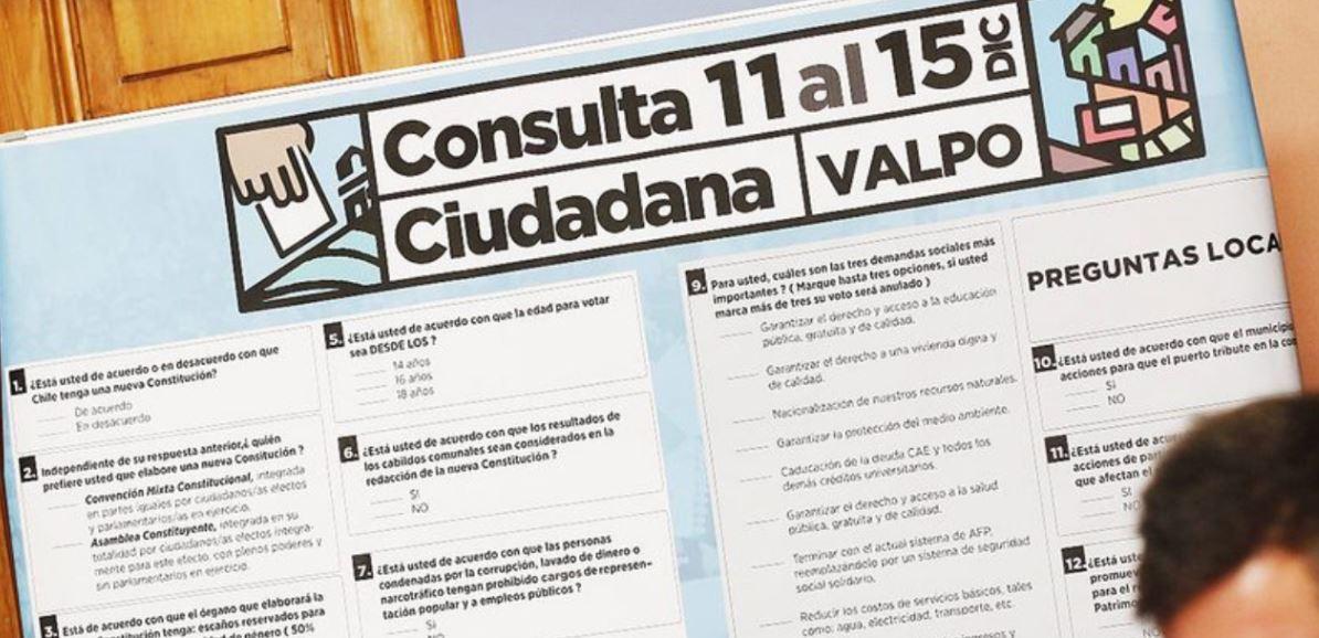 Tres comunas partieron con la consulta ciudadana