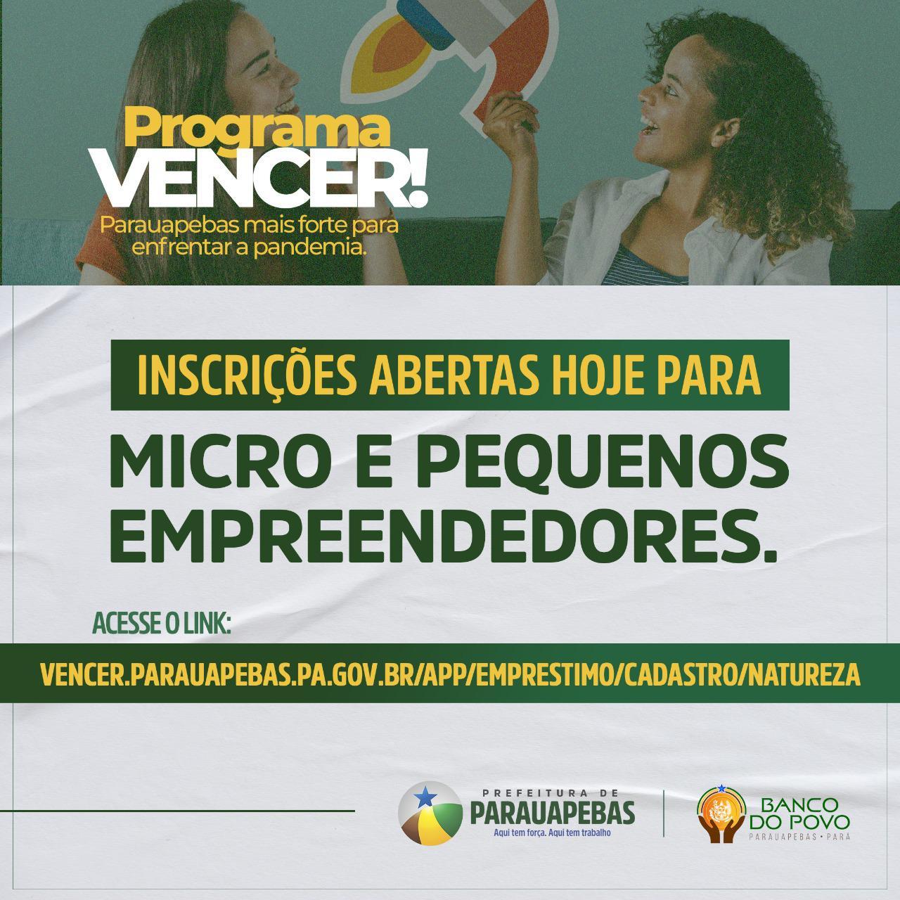 Pequenas empresas de Parauapebas já podem acessar link para pedir crédito especial ao Banco do Povo.
