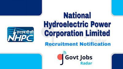 NHPC recruitment notification 2019, govt jobs in India, central govt jobs, govt jobs for ITI