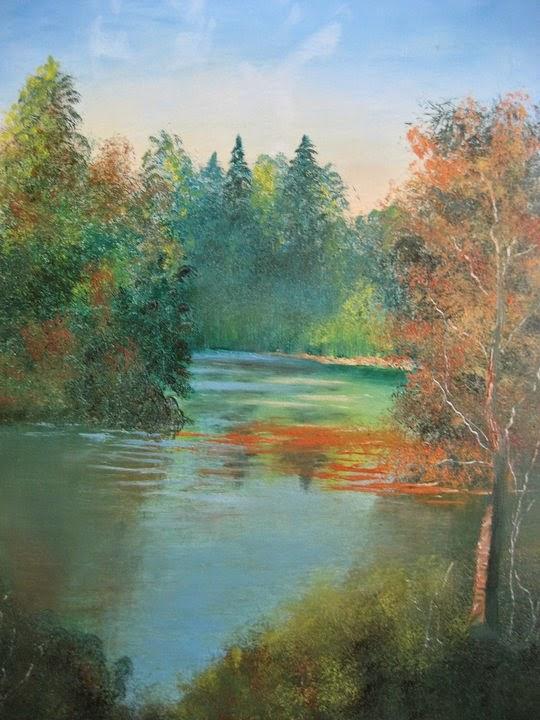 oil on canvas paintings, oil paint technique, oil paintings, landscape paintings, scenery paintings, river painting,