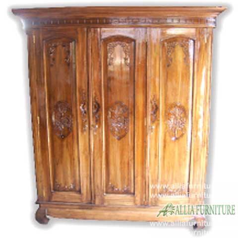 lemari pakaian 3 pintu kayu jati gereja