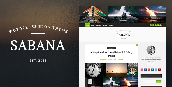Sabana – Clean & Elegant WordPress Blog Theme Download Nulled Free