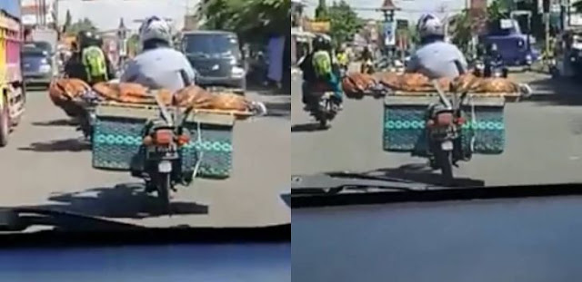 Viral Pria Bawa Jenazah Pakai Motor di Atas Bronjong di Boyolali, Ini Videonya