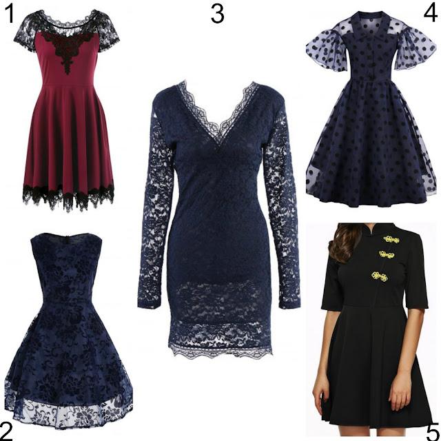 goth vintage lace dresses